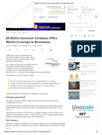 $5 Billion Insurance Company Offers Bitcoin Coverage to Businesses