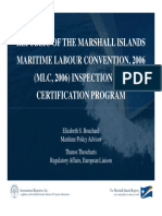 Maritime Labour Convension 2006 Inspection and Certification Program