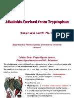 Alkaloids TRYPTOPHAN Orig Phenethylamines