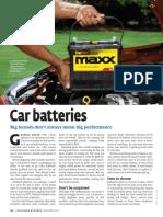 Consumer Reports Nov 2013 Car Batteries