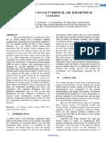 FLOW ANALYSIS OF GAS TURBINE BLADE FOR OPTIMUM COOLING