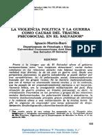 1988 La Violencia Política y La Guerra Como Causas Del Trauma RP1988 7-28-123 141
