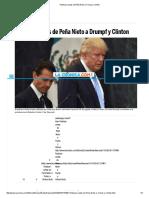 Publican Cartas de Peña Nieto a Trump y Clinton