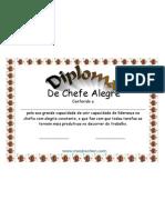 Diploma de Chefe Alegre Certificado para Download ou impressao