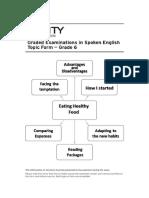 Eating Healthy Food - Topic GESE 6 - SEVL