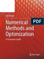 Walter e Numerical Methods and Optimization a Consumer Guide
