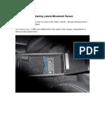 Replacing Lateral Movement Sensor