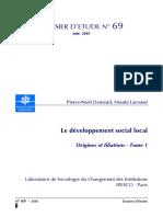 Le Développement Social Local