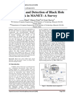 Prevention and Detection of Black Hole Attack in MANET