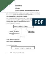 5.- Ecuacion Del Inventario. La Cuenta. Tecnicismos. Tipos de Cuentas y Su Tratamiento.