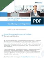 Brand Management Programme