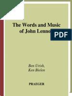 The Words and Music of John Lennon by Ben Urich, Ken Bielen.pdf