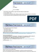 The Peace That Endures - John 14