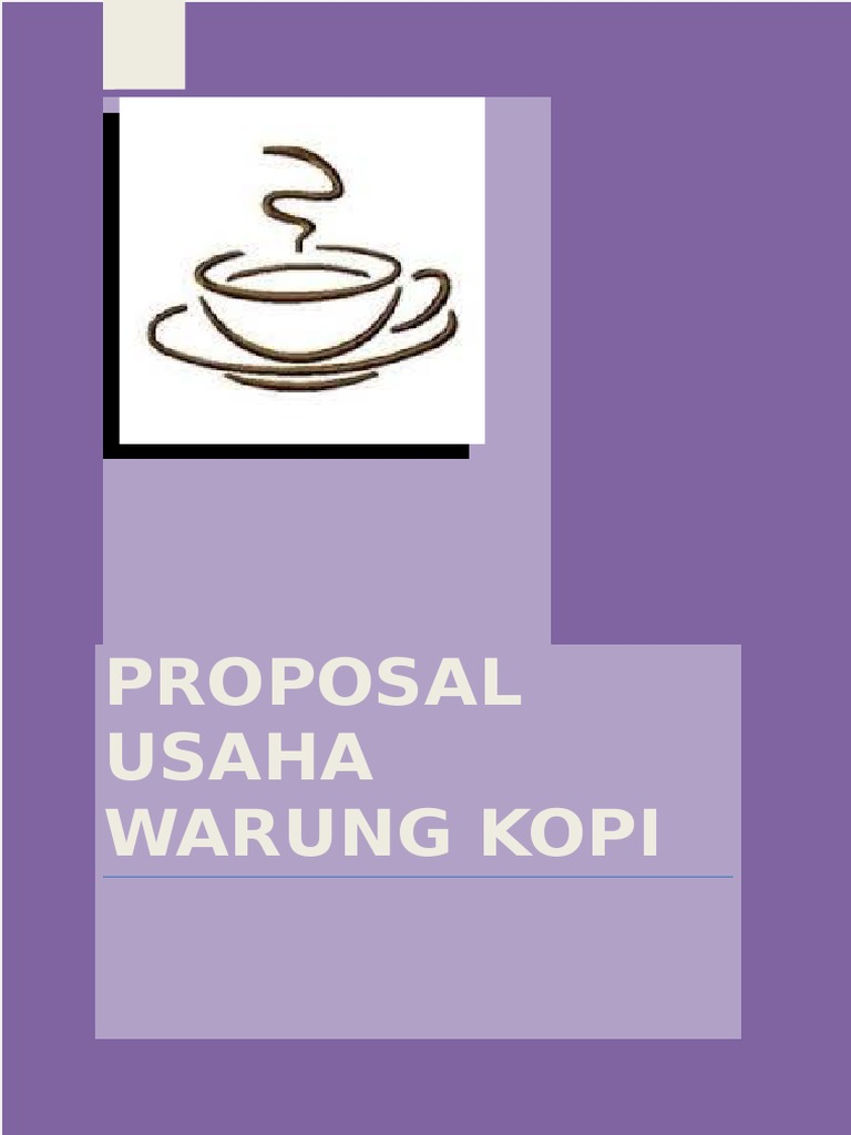 Proposal Usaha Warung Kopi Docx