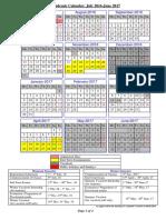Academic Calendar2016