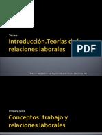 Teoria y Sistemas de Las Relaciones Laborales Tema 1 2016-17