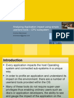 Analyze application impact - CPU Subsystem