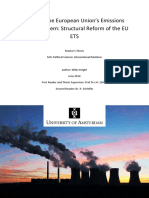 Miles Knight - Master Thesis - Reviving the European Union's Emissions Trading System, Structural Reform of the EU ETS