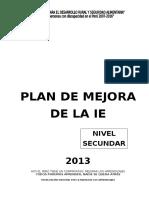 Modelo de Plan de Mejora Secundaria