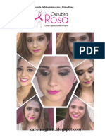Brincando de Maquiadora - Outubro Rosa
