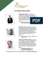 Vitality Depot Sponsored Speakers 2010