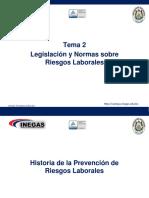 Tema2Legislación y Normas Sobre Riesgos Laborales