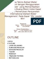 proposal ballast water treatment