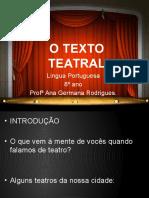 o Texto Teatral