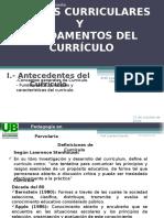 1 Clase Teorias Del Curriculo ASPECTOS Y CONCEPTOS