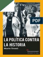 La política contra la historia. Mario Tronti