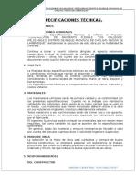 Especificaciones Tecnicas Los Gallegos