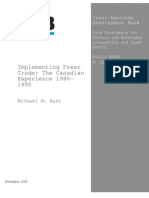 M. Hart - Implementing Freer Trade - The Canadian Experience 1986-1995 [IDB Paper]
