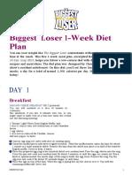 loose weight  Diet Plan