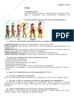 1º Testes - Paleolítico e Neolítico