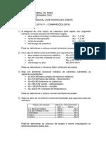 01_estruturas de Aço - Lista de Exercícios de Combinações