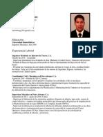 Curriculum Abril 2015
