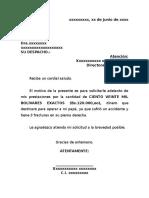 Modelo Carta Prestaciones Scribd