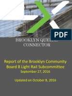 Brooklyn Community Board 8 Light Rail Subcommittee Report, UPDATED 10-8-16