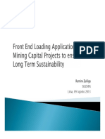 FEL Aplication in Mining Capital Projects
