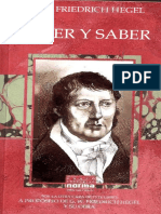 Hegel - Creer y Saber