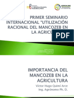Victor Hugo Quimi - Importancia Del Mancozeb en La Agricultura