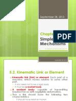 CH 5 Simple Mechanisms