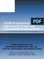 ICTSD - Implications of the Proposed Mod Ali Ties for the Special Safeguard Mechanism (SSM)