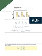 Resistors in Parallel Example No1