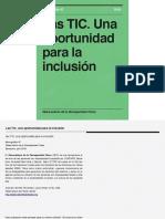 TIC´s Una Oportunidad para la inclusión