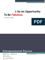 Entreprenrual Process