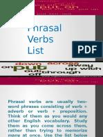 Phra Sal Verbs List