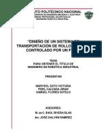 diseño de un sistema de transportación de rollos de tela controlado por un FPGA