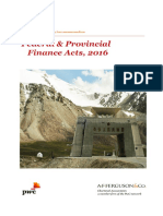 Memorandum on Federal & Provincial Finance Acts, 2016