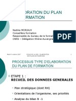 Elaboration Du Plan de Formation - Nadine Moriaux